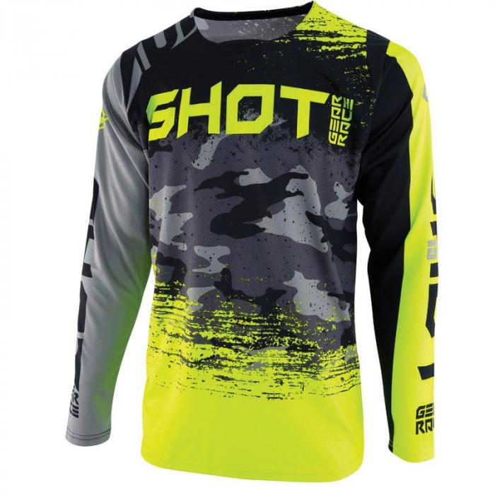 Motokrosový dres Shot CONTACT Counter šedo-fluo žlutý