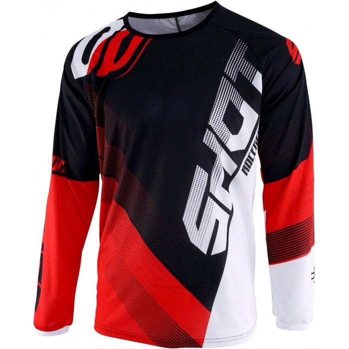 Motokrosový dres Shot DEVO Ultimate černo-červený