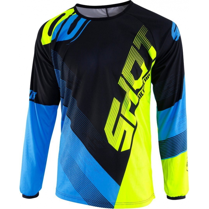 Motokrosový dres Shot DEVO Ultimate modro-fluo žlutý výprodej