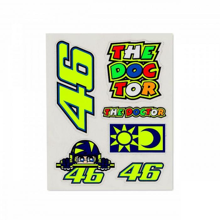Nálepky VR46 Valentino Rossi SET malé