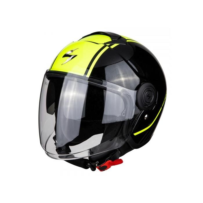 Otevřená přilba na motorku Scorpion EXO-CITY Avenue černo-fluo žlutá