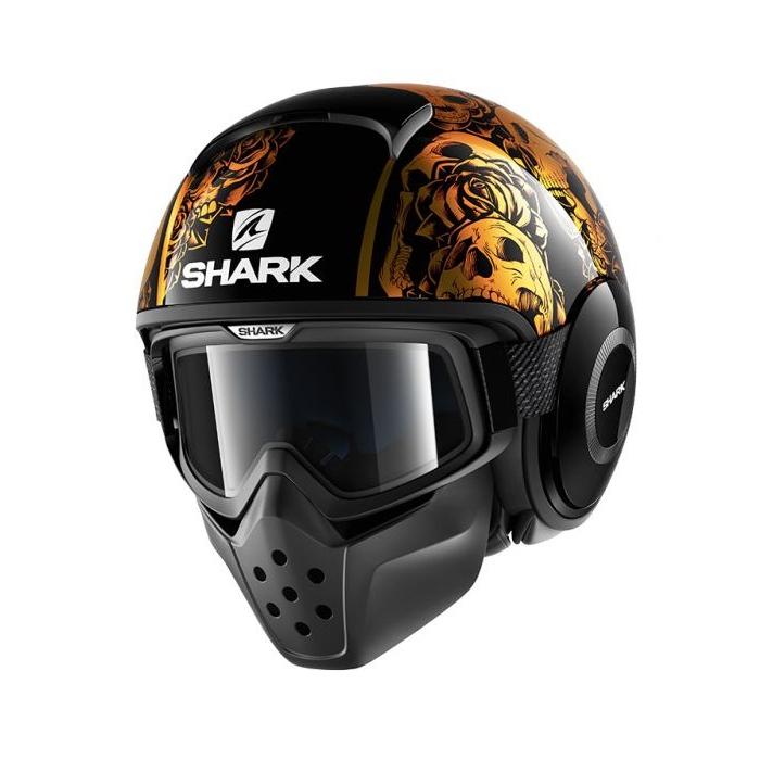 Otevřená přilba SHARK DRAK Sanctus černo-oranžová