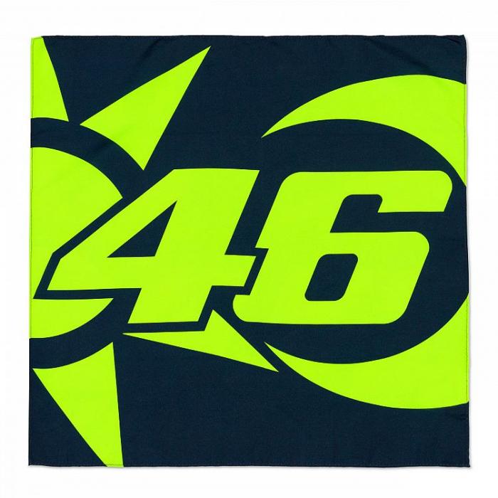Šátek VR46 Valentino Rossi SUN AND MOON modro-žlutý