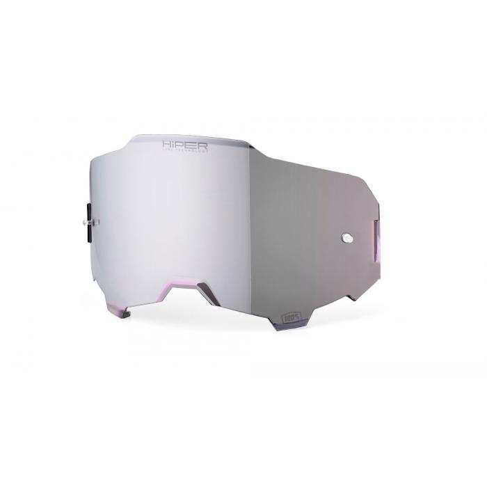 Stříbrně iridiové sklo Hiper do brýlí 100% ARMEGA