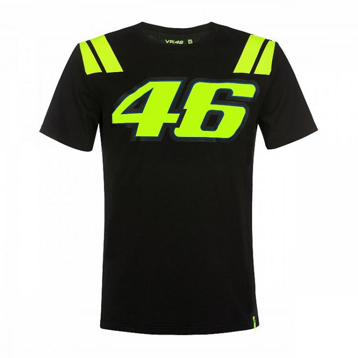 Triko VR46 Valentino Rossi 46 THE DOCTOR černé