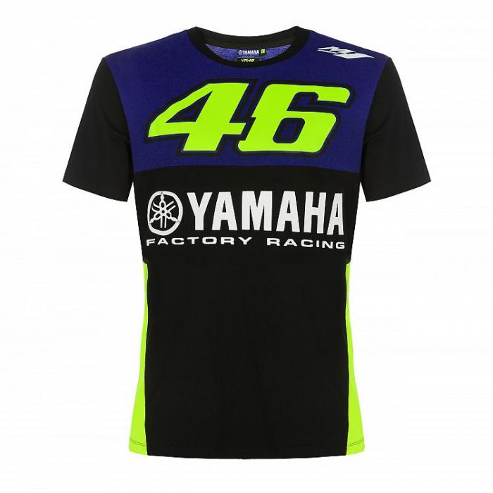 Triko VR46 Valentino Rossi Yamaha modré