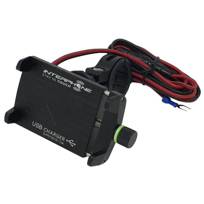 Univerzální držák Interphone CRAB Evo Alu s nabíječkou