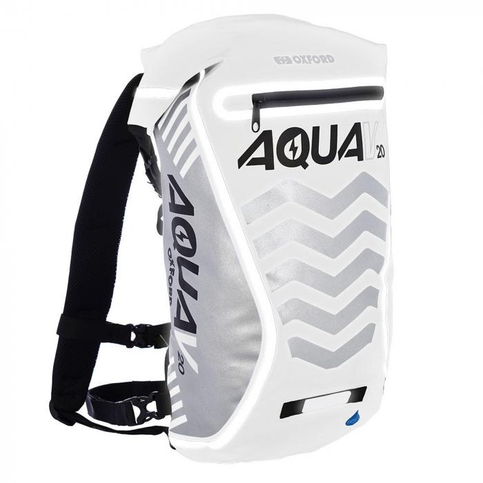 Vodotěsný batoh Oxford Aqua V20 Extreme Visibility bílo-šedý