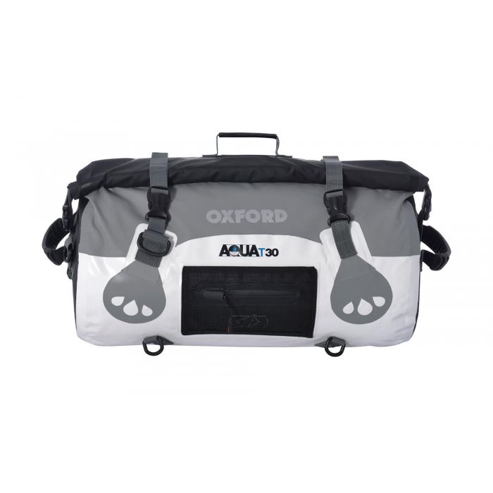 Vodotěsný vak Oxford Aqua30 Roll Bag bílo-šedý