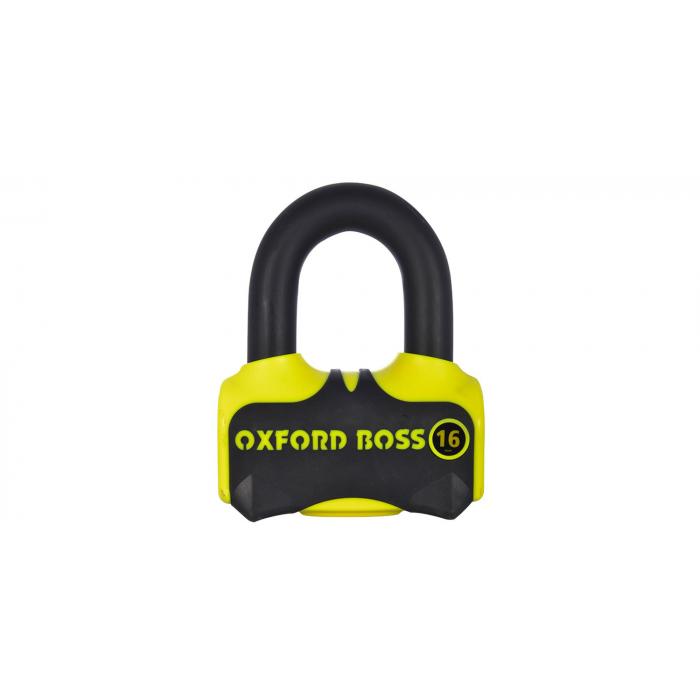 Zámek kotoučové brzdy Oxford Boss 16 žluto-černý