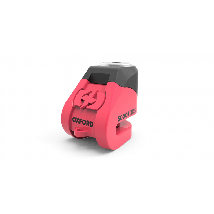 Zámek kotoučové brzdy Oxford Scoot XD5 růžovo-černý