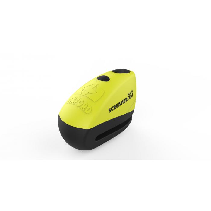 Zámek kotoučové brzdy Oxford Screamer XA7 žluto-černý