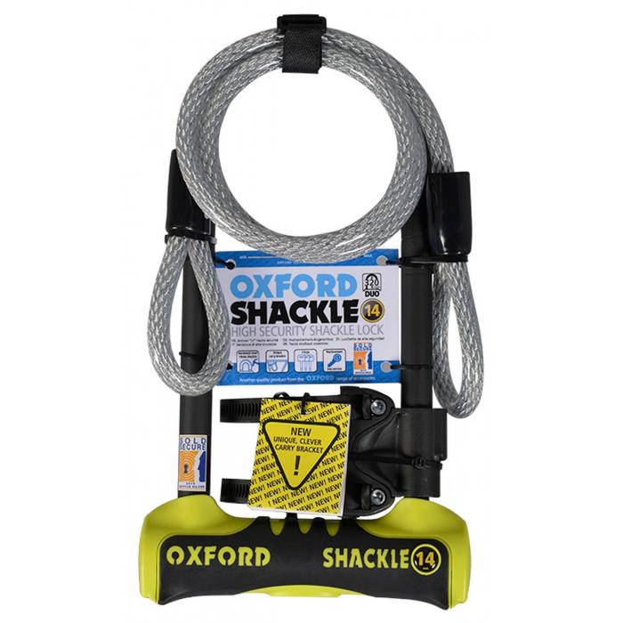 Zámek Oxford U profil Shackle 14 DUO žluto-černý