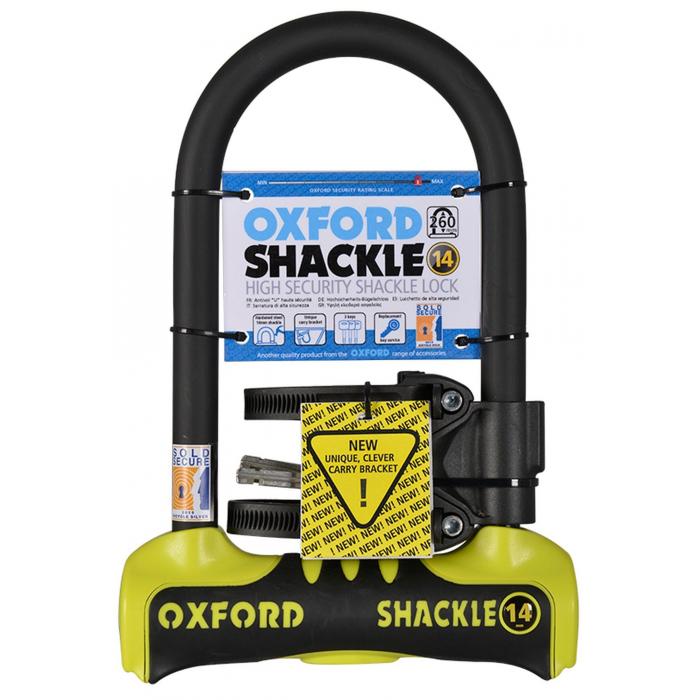 Zámek Oxford U profil Shackle 14 žluto-černý